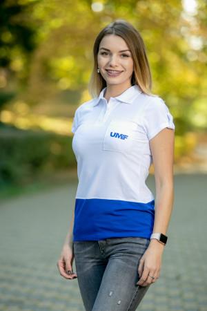 Tricou cu guler (femei) UMF Collection by Cătălin Botezatu